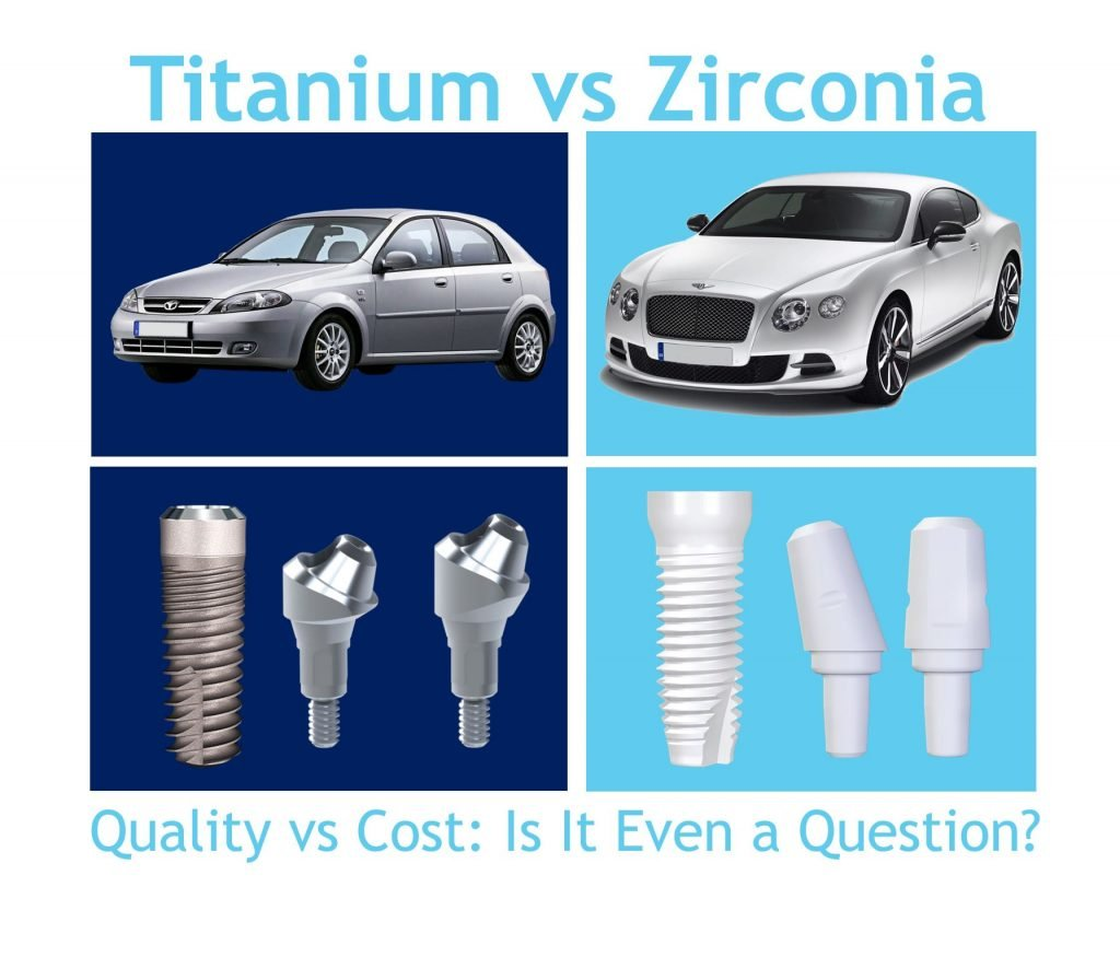 Zirconia Dental Implant vs Titanium Dental Implants