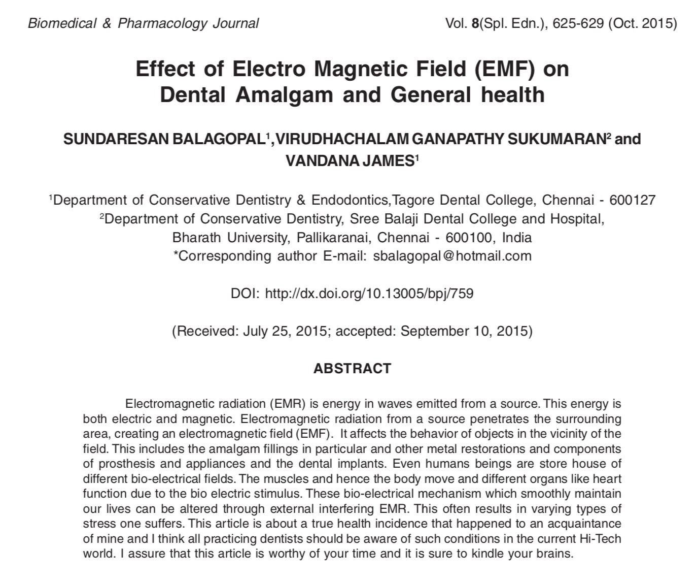 EMF headaches dental mercury fillings amalgam dental fillings PEMF EMF sensitivity